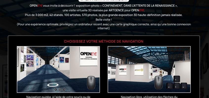 OPENEYE visitez l'exposition en 3D